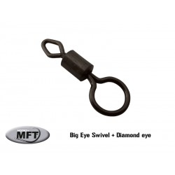 Emerillon spécial - Big eye swivel with diamond eye