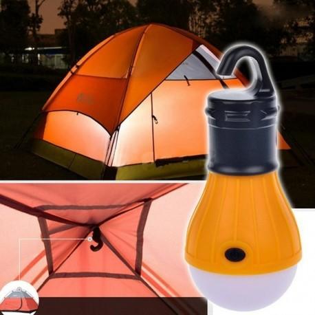 Lampe d'appoint - Pêche de nuit - Exemple d'accrochage